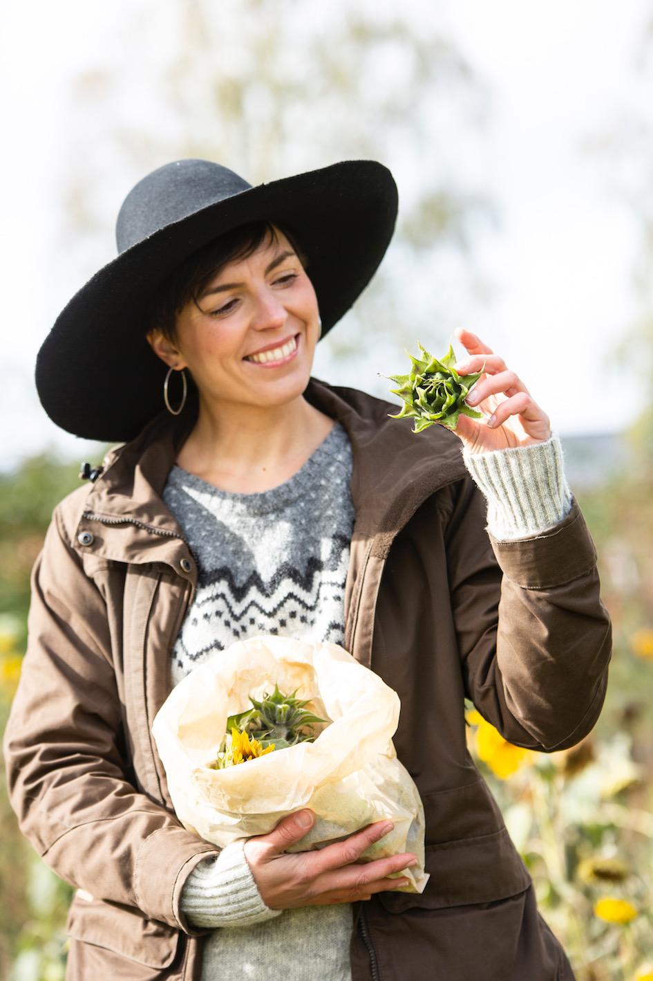 ruoka, reseptit, luonto, syksy, frantsila, kokkaus, ruoanlaitto, auringonkukka, auringonkukkapelto,
