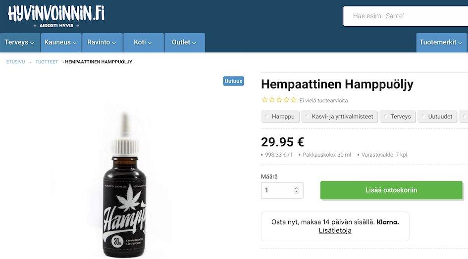 CBD, CBD oil, hamppuöljy, Hyvinvoinnin.fi