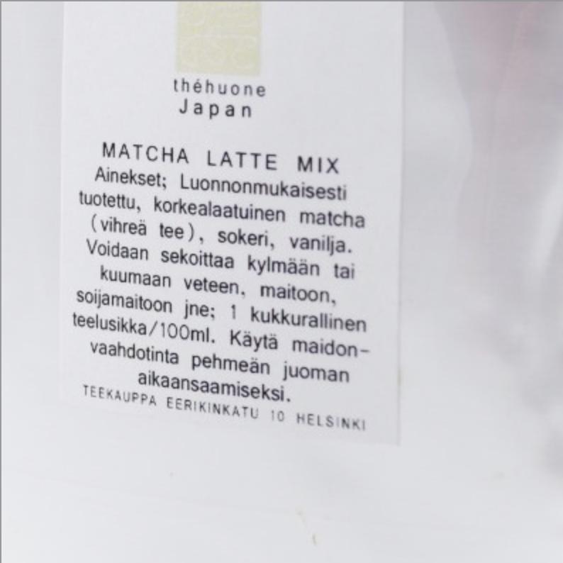 tee, musta tee, vihreä tee, maustettu tee, Teekauppa Veiström, matcha, matcha latte